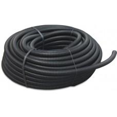 FLEXIBELE MANTELBUIS PVC-U 36 MM GLAD ZWART 25M