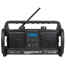 .HANDSFREE 2 ZWART DAB+ - FM STEREO RDS - BLUETOOTH - USB - AUX-IN